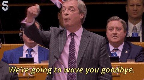 Nigel Farage Goodbye GIF
