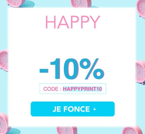 Image for the Tweet beginning: 🎉 HAPPY PRINT HOUR 🎉  Aujourd'hui