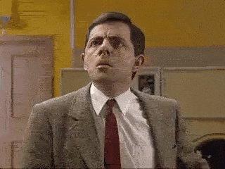 Mr Bean Reaction GIF