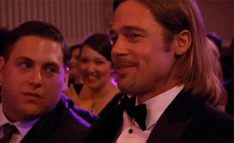 Brad Pitt Kiss GIF