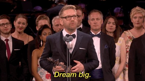 dream big olivier awards 2017 GIF by Official London Theatre