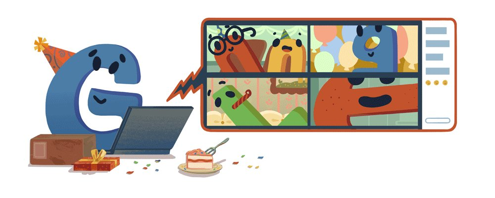 Image for the Tweet beginning: Cheers to 22 years! #GoogleDoodle