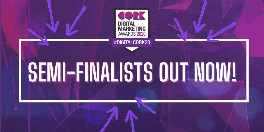 Who is a #DigitalCork20 Semi-finalist? See the list NOW > https://t.co/bCii4TRmx6  Thanks to sponsors:  @ClickDimensions @corkskillnet @CIT_ie @GrantThorntonIE  @Tweet_Insight  @TOTEMireland @VeloRoasters https://t.co/6XCDlQVNiT