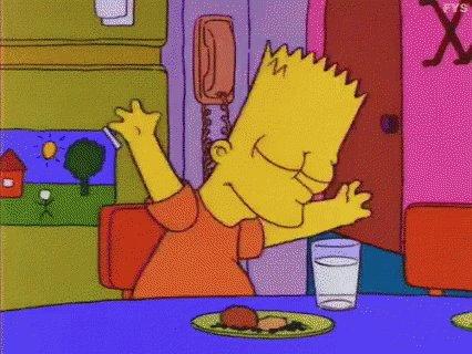 Bart Simpson Happy GIF