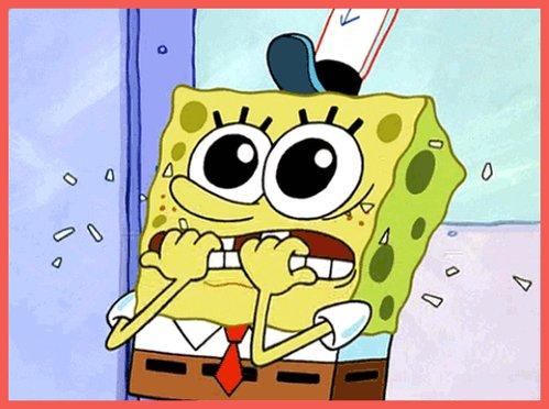 nervous spongebob squarepan...