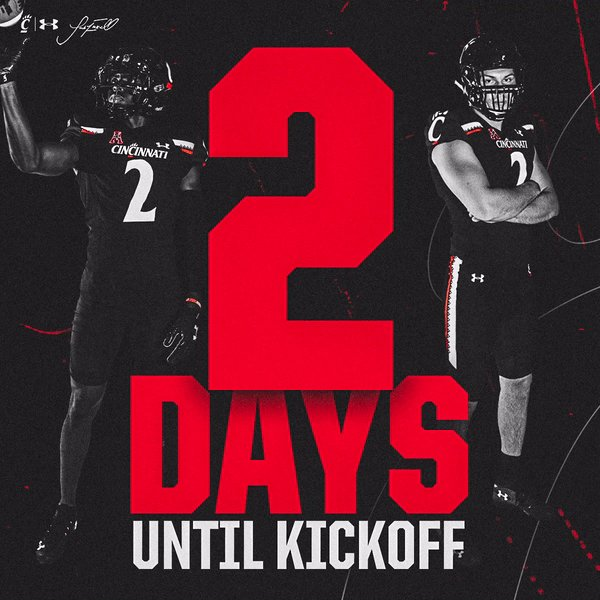 🔙 @ 𝗜𝗧  🔜  𝗖𝗢𝗨𝗡𝗧𝗗𝗢𝗪𝗡 𝗧𝗢 𝗞𝗜𝗖𝗞𝗢𝗙𝗙 Presented by @SuperiorCUInc  #Bearcats https://t.co/z5oQ1AD5NJ
