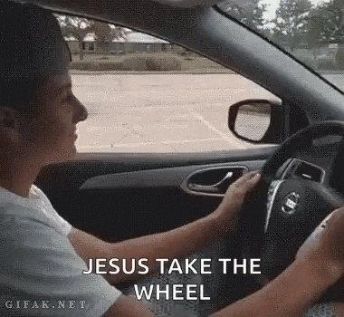 Jesus Take The Wheel GIF by memecandy