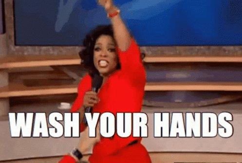 Oprah Wash Hands GIF