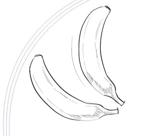 バナナに勢いをつけたりする時に使える効果線のセットにブラシを1つ追加しました。無償です。4000DL、ギフトなどありがとうございます。筆圧で長さが変わるアクション線   #clipstudio