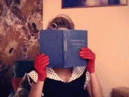 Beyonce Reading GIF