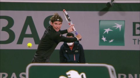 😍😍😍  We will NEVER get sick of Dominic Thiem's backhand in slo-mo!   #RolandGarros    https://t.co/buS2RWm3kT
