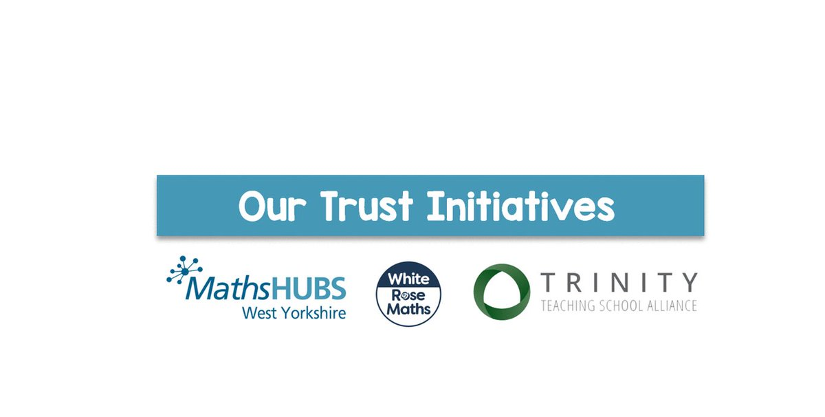 Our new MAT family is has a variety of initiatives that will help us provide the best for our students and gain additional support where needed! We can't wait to work with our initiatives from @WhiteRoseMaths to @WYorksMathsHub, and see the benefits of our new MAT family.