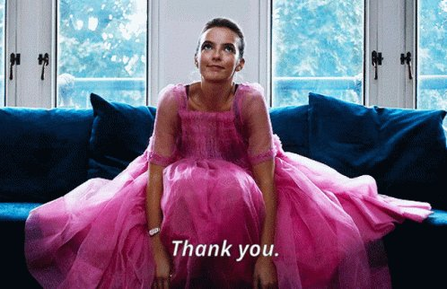 Jodie Comer Thank You GIF