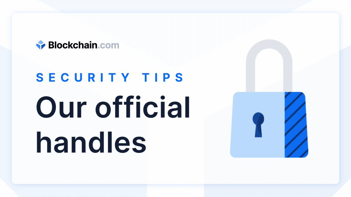 But diligence is key and new scam accounts pop up every day. Make sure to always double check handles to ensure you're communicating with the official @Blockchain and @AskBlockchain accounts. https://t.co/H4BL76TQNt
