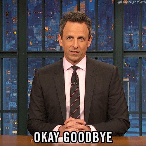 Seth Meyers Goodbye GIF by ...