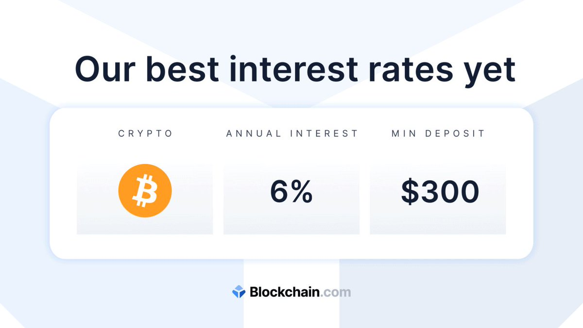 Take advantage of our best interest rates yet. 💰   Transfer #crypto + earn up to 12% annual interest right in your https://t.co/0DZyULavbV Wallet. Don't wait another minute: https://t.co/W9lucZXQlI https://t.co/XxWNtBkwOq