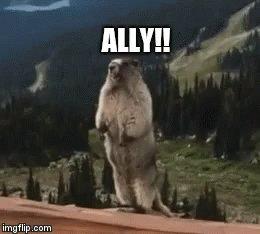 Ally Calling GIF