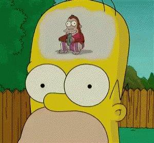 Homer Brain GIF