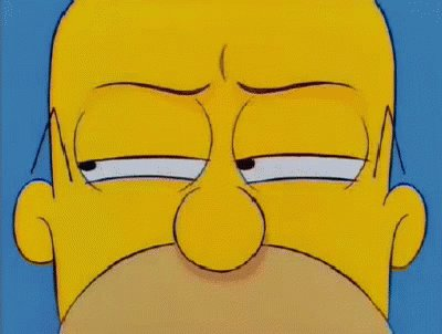 Suspicious Homer - The Simpsons GIF