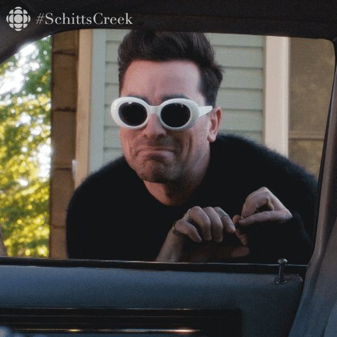 excited schitts creek GIF by CBC