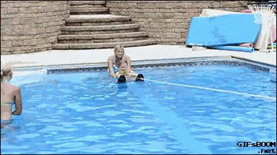 Swimming Kids GIF
