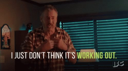 Not Working Out GIF
