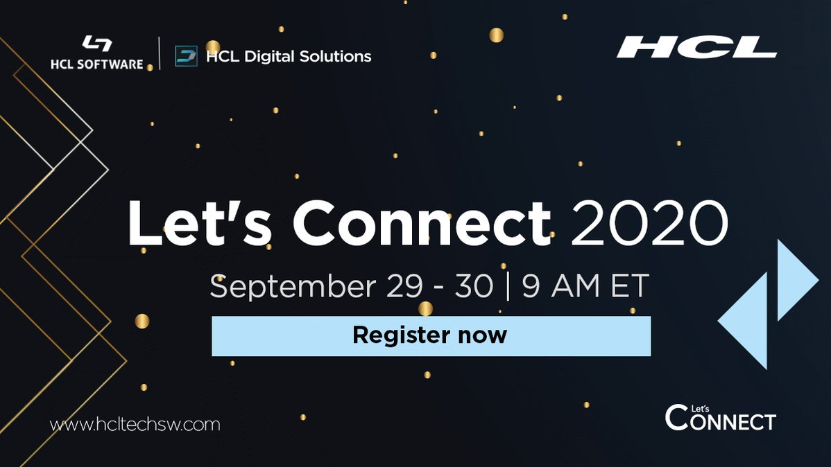 Want to get an exclusive peek into #HCLConnections v7 and access great networking opportunities💭? https://t.co/CGuomx4rxK