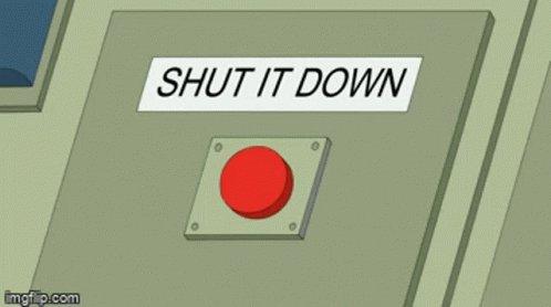 Shut Down Press Button GIF
