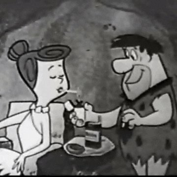 the flintstones vintage tv GIF by absurdnoise