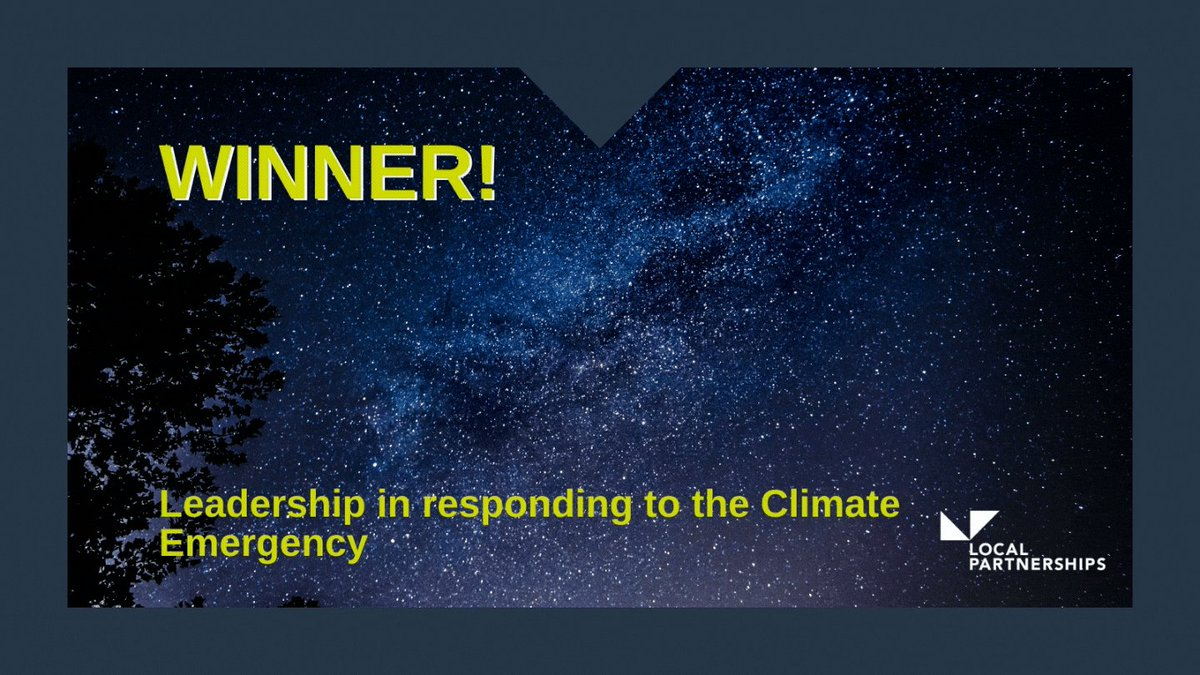 And the winner is....  @WestYorkshireCA! 💃🎉🏆🌍  Congratulations to you, winners of Leadership in Responding to the Climate Emergency award, @TheMJAwards, #MJAwards20!