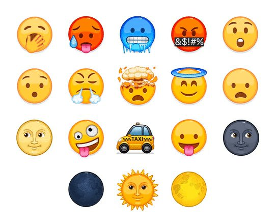 18 new animated emoji were added in the latest update – send a single  🥶 🌞 or 🥵 to control the weather