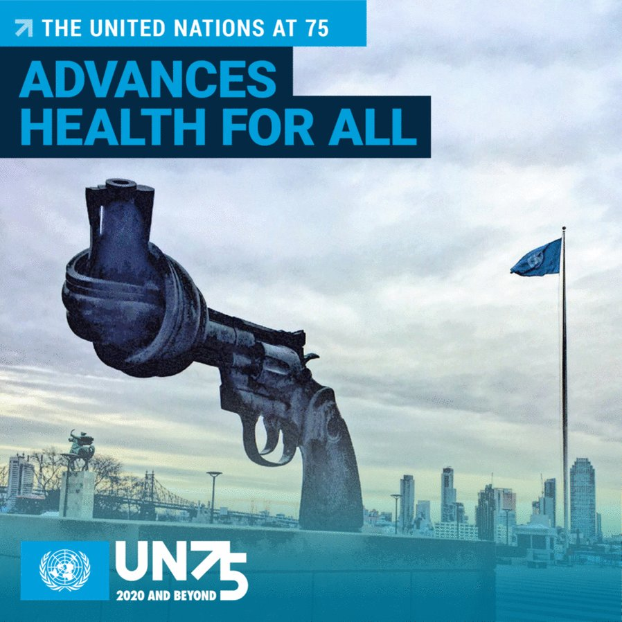 The UN works for everyone, everywhere by:  🇺🇳 preventing conflict 🇺🇳 vaccinating children 🇺🇳 protecting refugees 🇺🇳 feeding the hungry 🇺🇳 addressing the climate crisis 🇺🇳 empowering women 🇺🇳 responding to #COVID19 & so much more.    #UN75