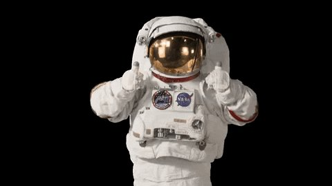 Outer Space Thumbs Up GIF b...