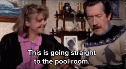 The Castle Straight To The Pool Room GIF