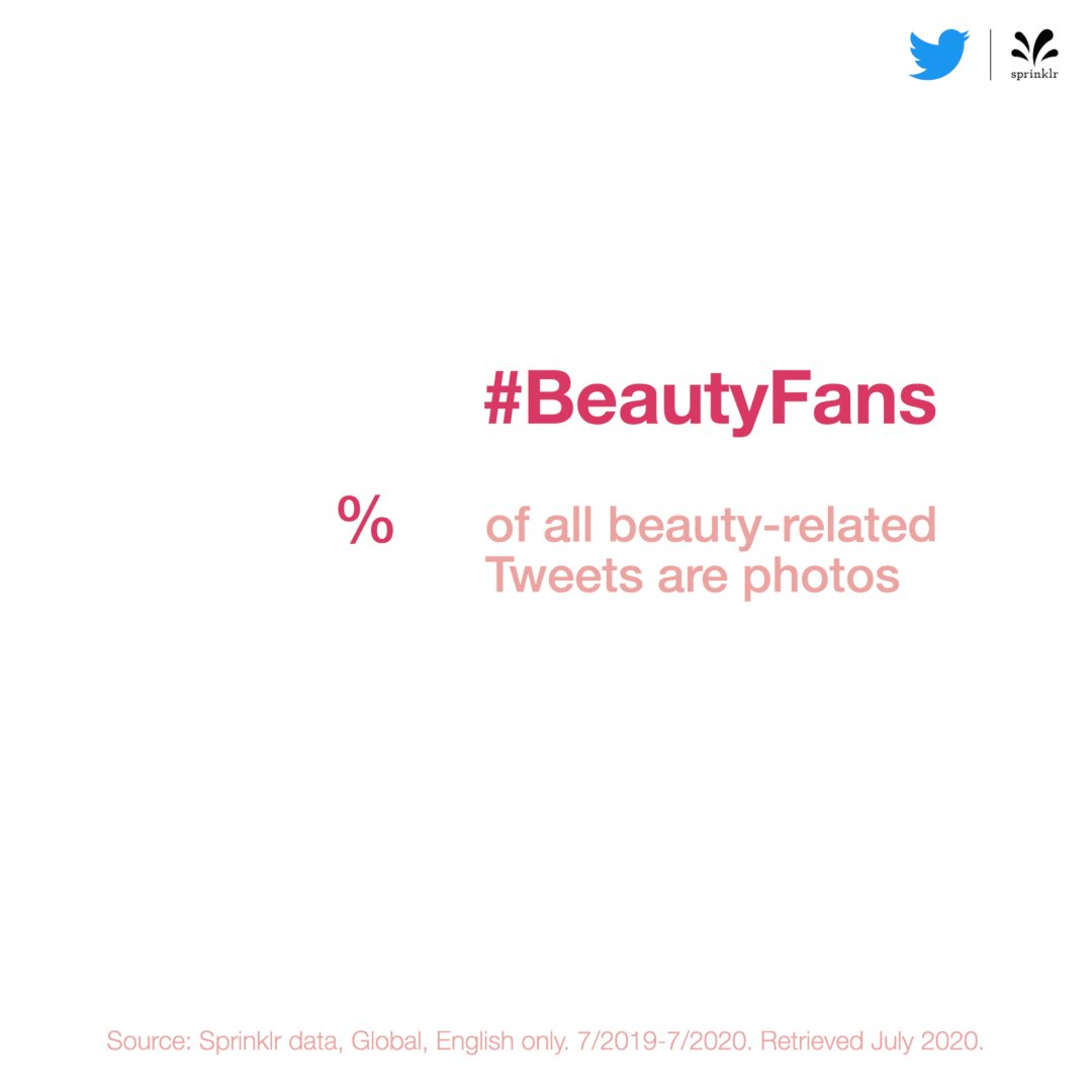 Tell, don't show - #BeautyTwitter is where people come to talk. Less than half of the Tweets in the conversation include images.