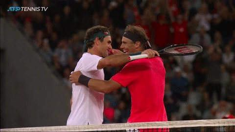ATP players to have won 100 matches at a Grand Slam:  - Roger Federer (102-15 AO, 101-13 Wimbledon) - Rafael Nadal (100-2 #RolandGarros) https://t.co/TLjhoUF5ks