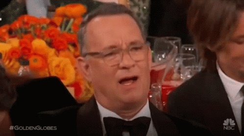 @rickygervais Yeah! You can know that from Tom Hanks reaction