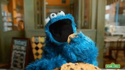 cookie monster cookies GIF by Sesame Street