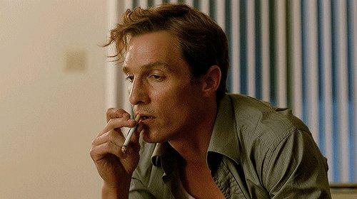 true detective smoking GIF