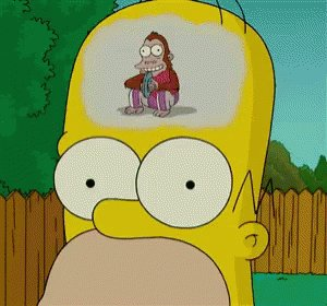 Homer Day Dreaming GIF