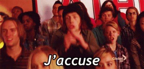 Glee Jaccuse GIF