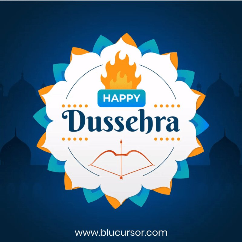 On the auspicious occasion of Vijaya Dashami, Spread happiness and joy by conquering negativity within and outside of you. Team bluCursor wishes you a very Happy Dussehra.  #blucursorinfotech #dussehra #ravan #happydussehra #dusshera #dussehraspecial #festive