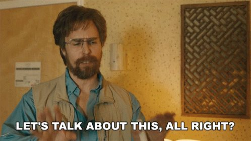 Lets Talk About This All Right Sam Rockwell GIF