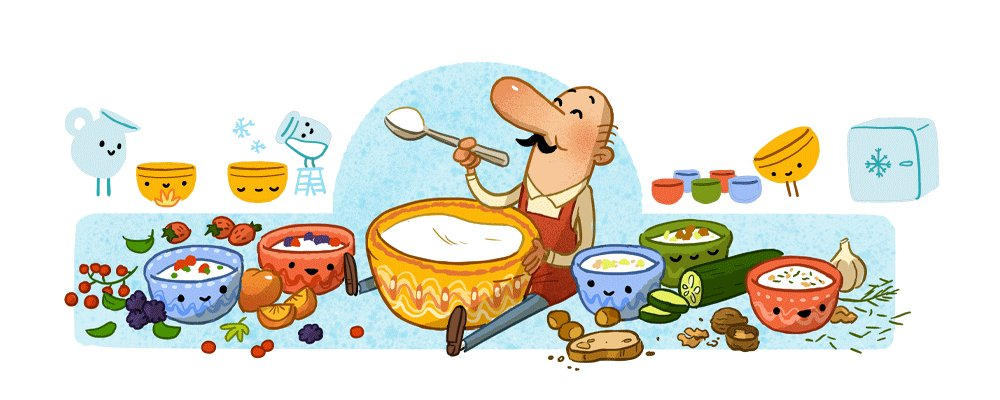 Image for the Tweet beginning: A #GoogleDoodle for Bulgarian physician