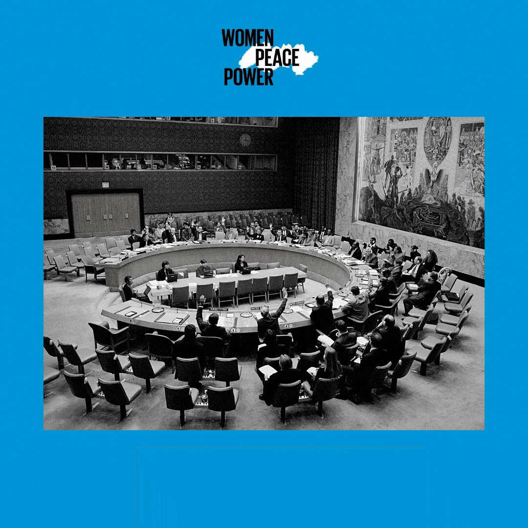 The @UN Security Council will convene its annual Open Debate on #UNSCR1325.    Tune in to hear briefings amplifying #WomenPeacePower from @antonioguterres, @phumzileunwomen, @DanaiGurira, @ZarqaYaftali and Nataliia Emelianova.  📅29 October ⏰10:00 AM EDT https://t.co/DoD3jXw4Pl https://t.co/z5T4XCESZB