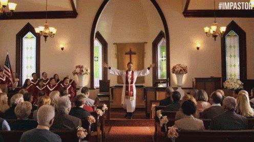 Church High Fives GIF