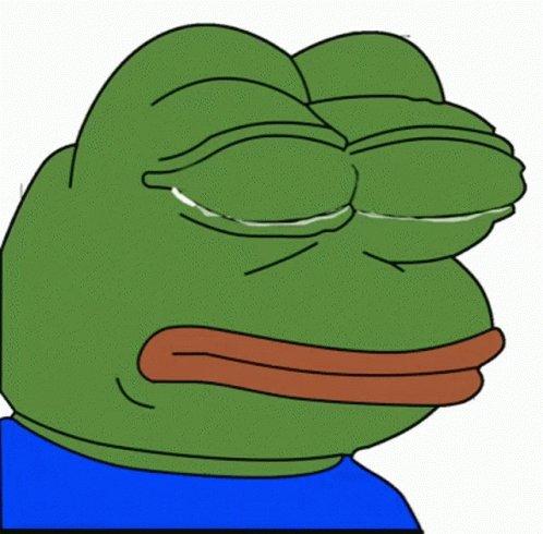Sad Pepe GIF