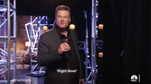 You: Hey Blake, when does @NBCTheVoice start? Me: