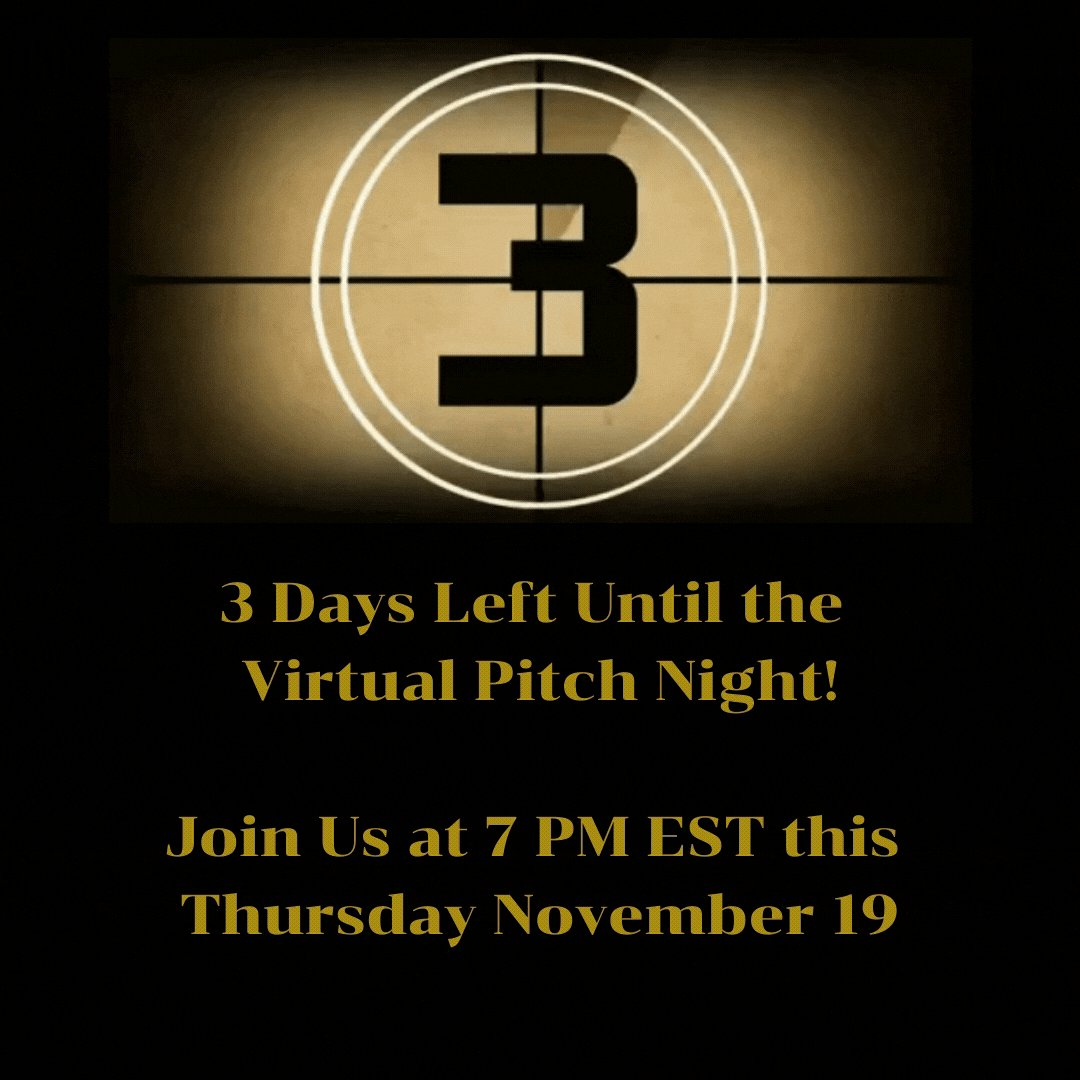 3 Days Left Until the Virtual Pitch Night!  Join Us at 7 PM EST this Thursday, November 19.    #Startup #Ideas #PitchNight #StartupLife #startups  #goElaborate