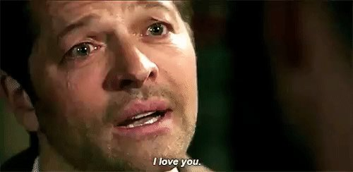 """""""You're the most selfless, loving human being I will ever know, you changed me Dean, I cared about the whole world because of you, I love you""""   God I am a fucking mess after that, so not ready for the end 😢❤🙈😂  #Supernatural #SPN #SPNFamilyForever #CastielForever #SPNFamily"""